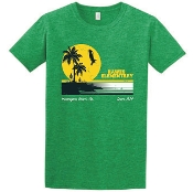 2019 Hawes Spirit Wear T-Shirt NEW Sunset Design (Green)