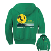 2019 Hawes Spirit Wear Sunset Zip-Up Hoodie Sweatshirt (Green)